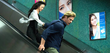 Wei Tang und Chris Hemsworth in Blackhat