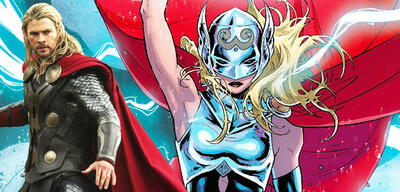Chris Hemsworth als Thor und Mighty Thor aus den Marvel Comics