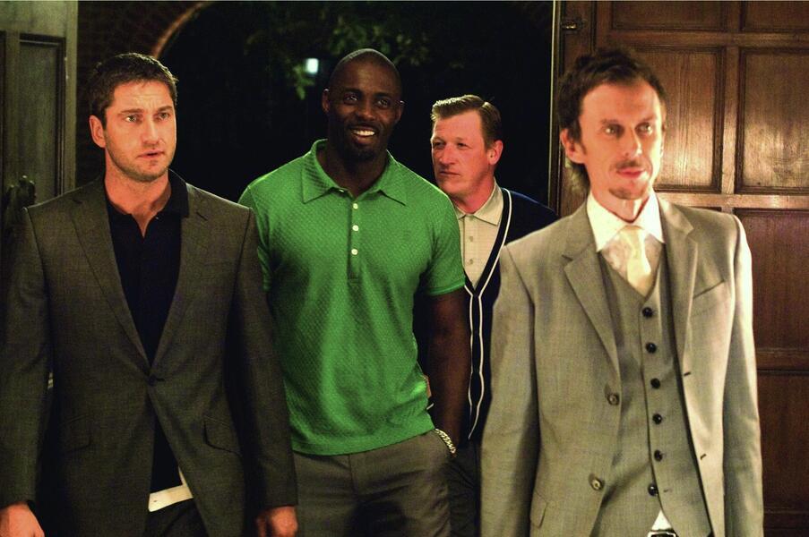 RocknRolla mit Gerard Butler, Idris Elba, Geoff Bell und Matt King