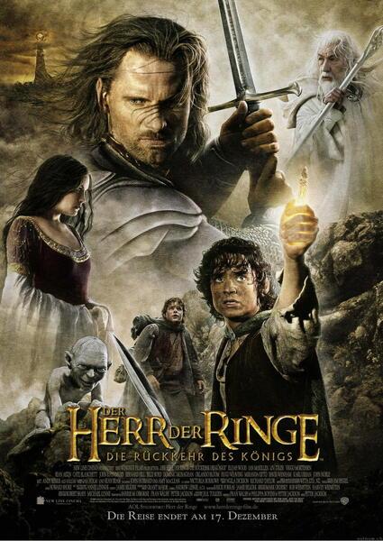 Der Herr der Ringe: Die Rückkehr des Königs mit Ian McKellen, Viggo Mortensen, Elijah Wood und Liv Tyler