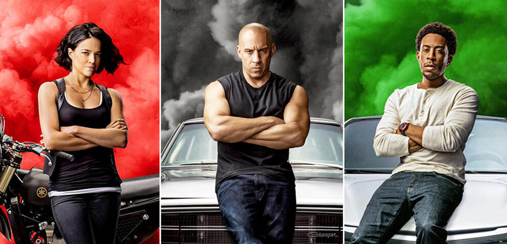 Charakterposter für Fast and Furious 9
