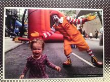 Auch eine Werbeikone wie Ronald McDonald treibt nicht jedem Kind ein Lächeln aufs Gesicht