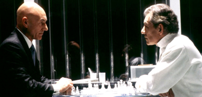 Patrick Stewart und Ian McKellen in X-Men 2