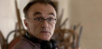 Boyle am Set von Steve Jobs