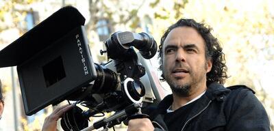 Alejandro G. Iñárritu am Set von Birdman