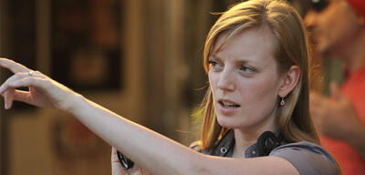 Sarah Polley am Set von Take This Waltz