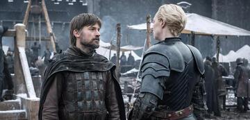 Jaime (Nikolaj Coster-Waldau) und Brienne (Gwendoline Christie) in Game of Thrones