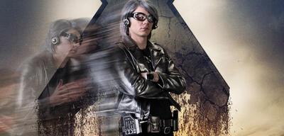 Evan Peters als Quicksilver