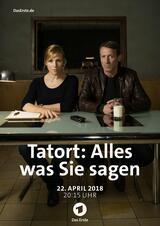 Tatort: Alles, was Sie sagen - Poster