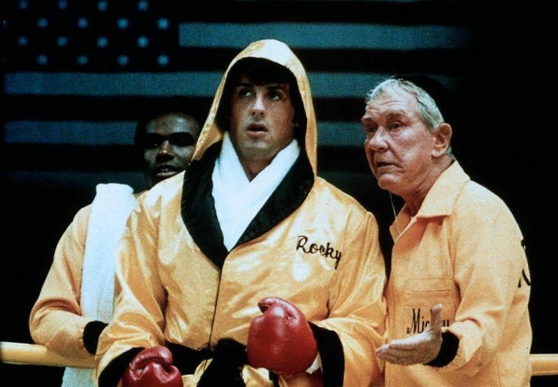Rocky II mit Sylvester Stallone und Burgess Meredith