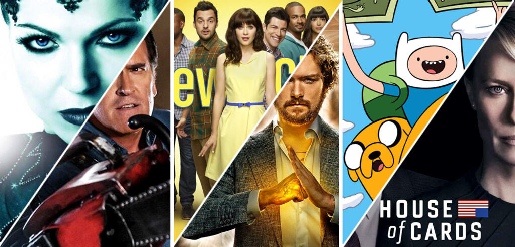 Once Upon a Time/Ash vs Evil Dead/New Girl/ Marvel's Iron Fist/Adventure Time/House of Cards