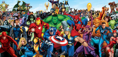 Die Marvel-Helden vereint
