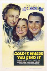 Goldene Erde Kalifornien - Poster