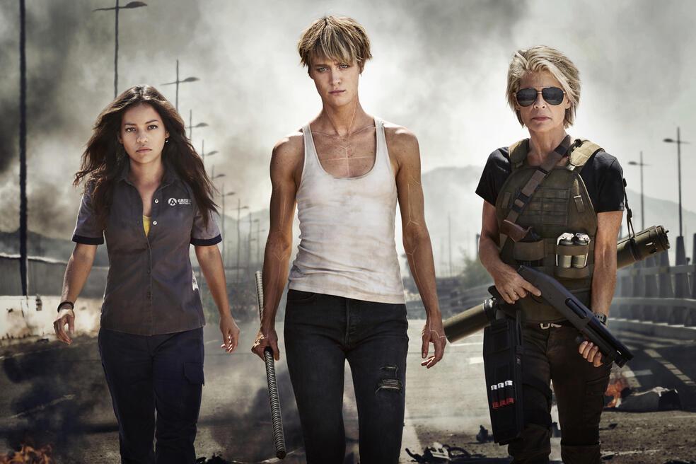 Terminator mit Linda Hamilton, Mackenzie Davis und Natalia Reyes