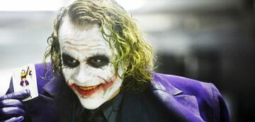 Glänzende Fantasie: Heath Ledger als der Joker in The Dark Knight