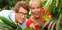 Bild zu:  Daniel Hartwich und Sonja Zietlow freuen sich über die Nominierung
