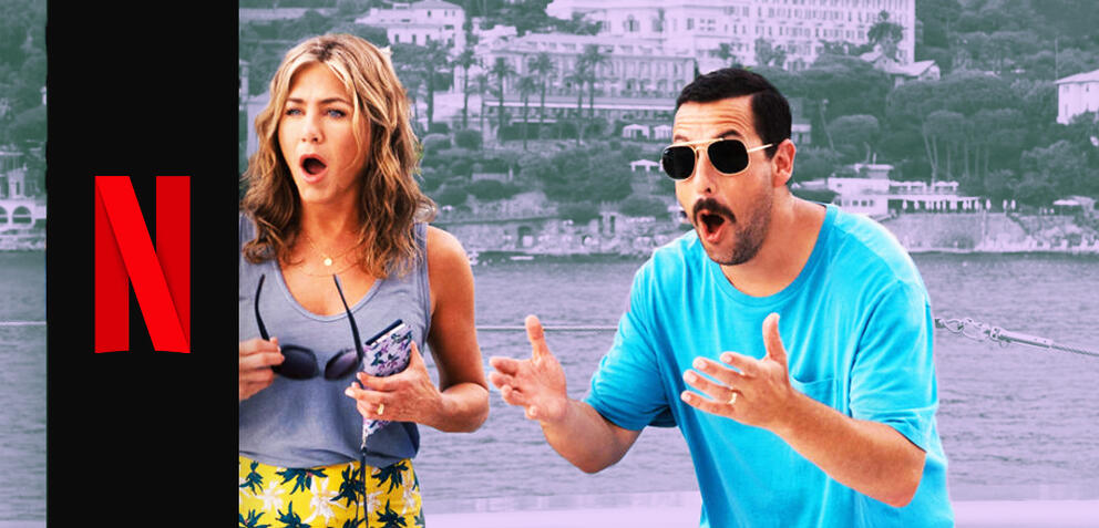 Jennifer Aniston und Adam Sandler in Murder Mystery