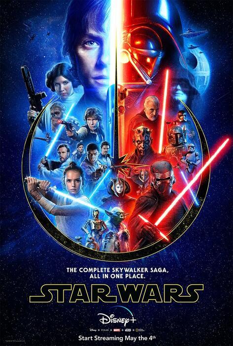 Star Wars 9: Der Aufstieg Skywalkers, Star Wars: Episode II - Angriff der Klonkrieger, Die Rückkehr der Jedi-Ritter, Star Wars: Episode I - Die dunkle Bedrohung, Star Wars 7: Das Erwachen der Macht, Krieg der Sterne
