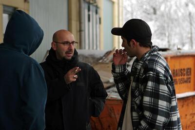 Regisseur Gerardo Milsztein während den Arbeiten