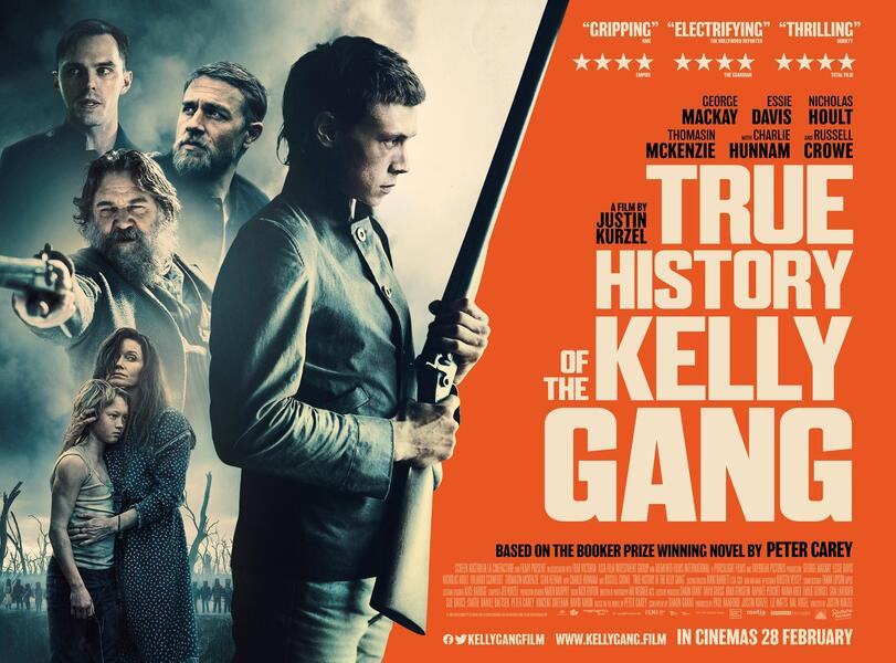 The True History of the Kelly Gang mit Russell Crowe, Charlie Hunnam, Nicholas Hoult und George MacKay