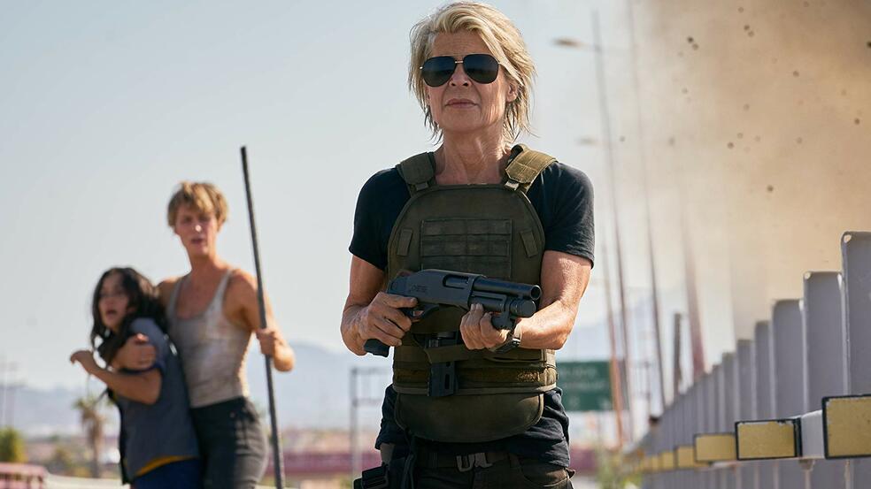 Terminator 6: Dark Fate mit Mackenzie Davis, Linda Hamilton und Natalia Reyes