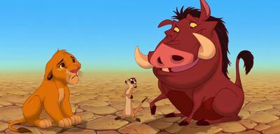 Simba, Timon und Pumba in Der König der Löwen