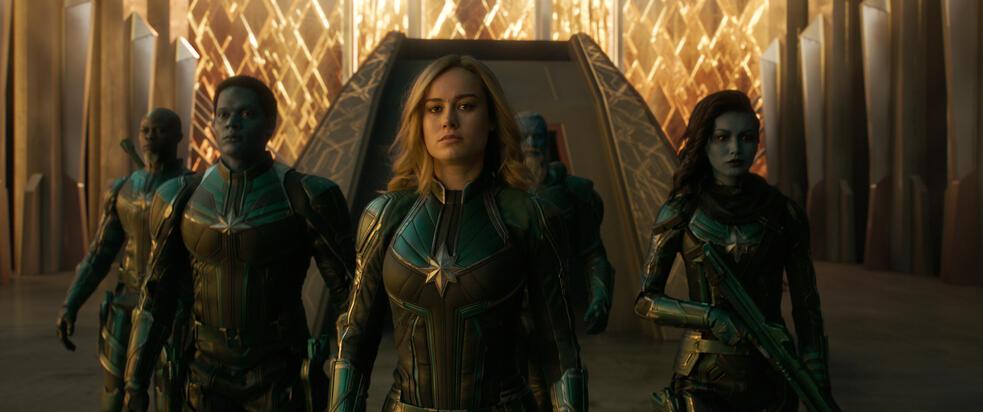 Captain Marvel mit Brie Larson und Gemma Chan