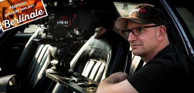 Steven Soderbergh am Set von Logan Lucky