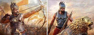 Prabhas (l.) und Rana Daggubati als entschlossene Feldherren.