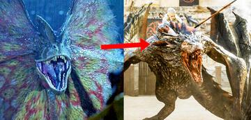 Der Jurassic Park/Game of Thrones-Vergleich: Dilophosaurus vs. Drache