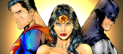 Superman, Wonder Woman und Batman