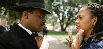 Ava DuVernay (r.) mit David Oyelowo am Set von Selma