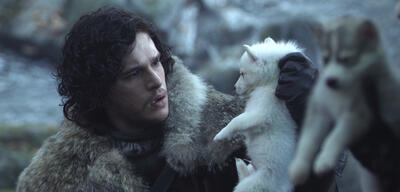 Jon Snow & Ghost in Game of Thrones