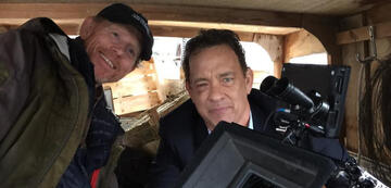 Ron Howard am Set von Inferno