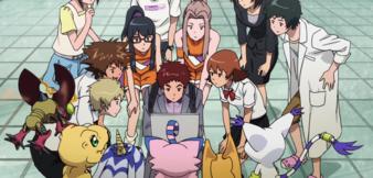 Die Digiritter in Digimon Adventure tri.
