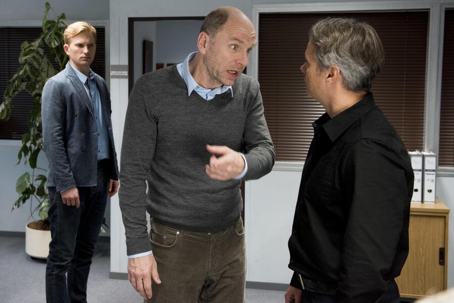 Der Chef ist tot mit Lucas Prisor, Götz Schubert und Guido Lambrecht