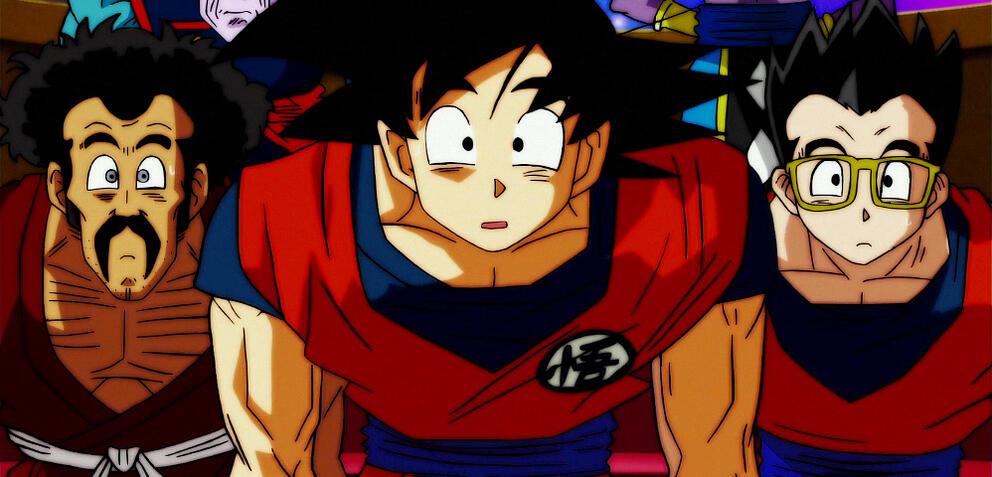 Son-Goku und seine Freunde sind überrascht
