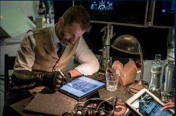 Zack Snyder am Set von Justice League