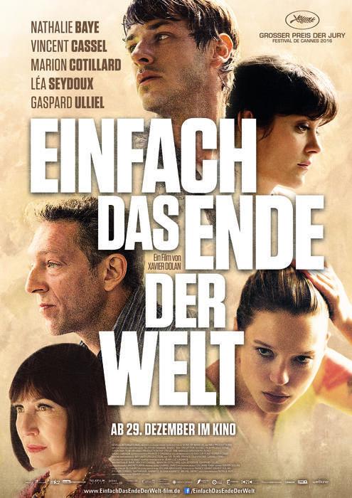 Einfach das Ende der Welt mit Marion Cotillard, Léa Seydoux, Gaspard Ulliel und Nathalie Baye