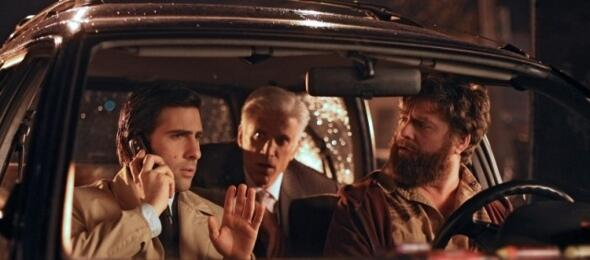 Jason Schwartzman, Ted Danson und Zach Galifianakis in Bored to Death