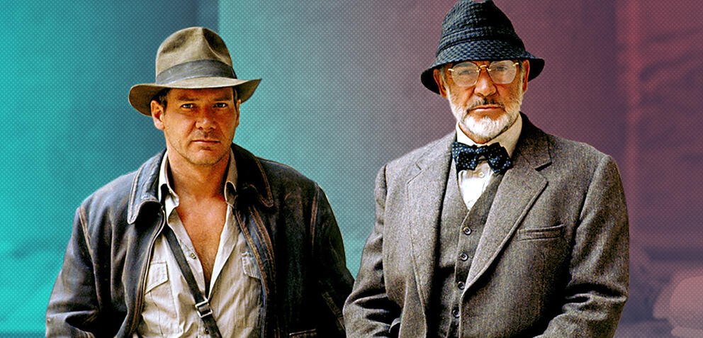 Harrison Ford und Sean Connery in Indiana Jones und der Letzte Kreuzzug