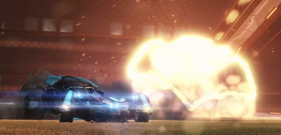 Das Batmobil in Rocket League