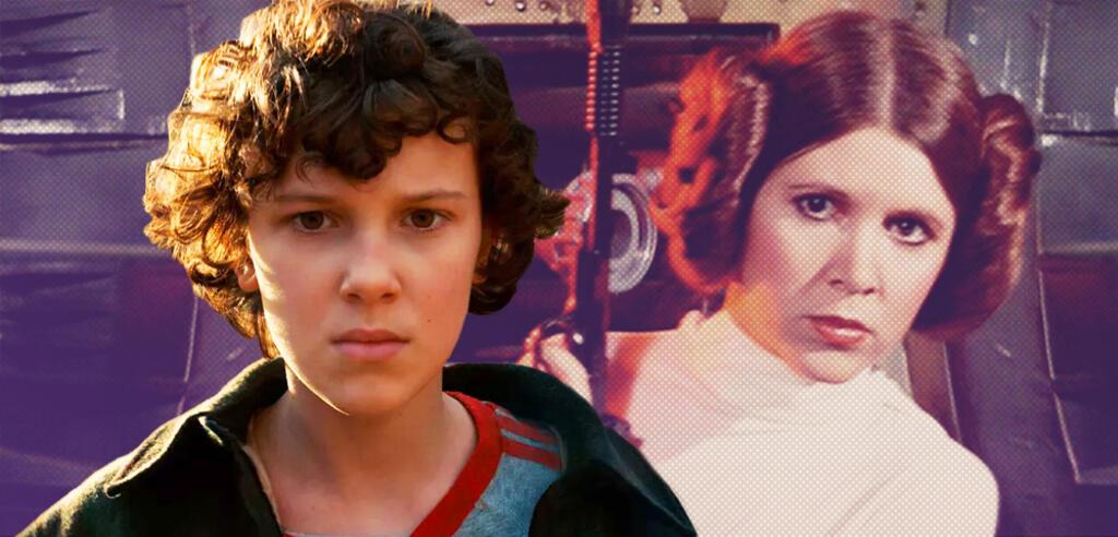 Millie Bobby Brown und Prinzessin Leia
