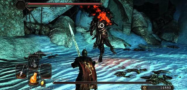 Der Kampf gegen den Fume Knight in Dark Souls 2