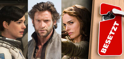 Anne Hathaway in Interstellar / Hugh Jackman in X-Men Origins: Wolverine / Natalie Portman in Your Highness
