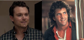 Clayne Crawford in Rectify und Mel Gibson als Martin Riggs in Lethal Weapon