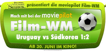 Bild zu:  Shrek präsentiert Film-WM Uruguay vs. Südkorea
