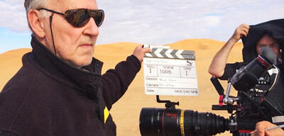 Werner Herzog am Set von Queen of the Desert