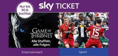 Sky bietet ein neues Angebot für Sky Entertainment Ticket.