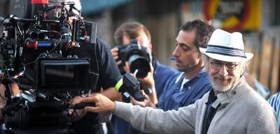 Spielberg am Set von Bridge of Spies